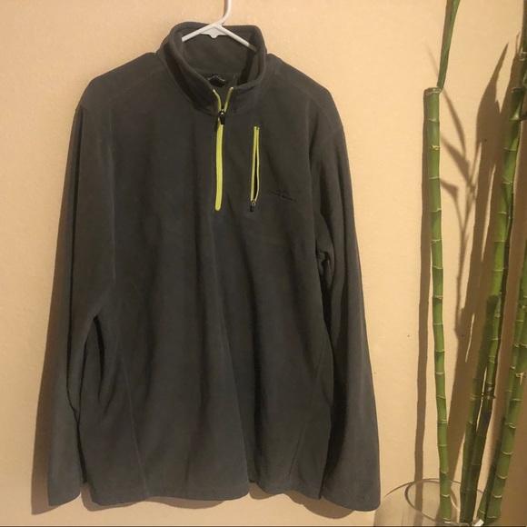 Eddie Bauer 1/4 Zip Fleece Men's Gray Jacket SZ. M